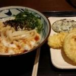 とろろ醤油うどん@丸亀製麺